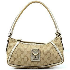Auth Gucci Hand Bag Brown Canvas #4885G71
